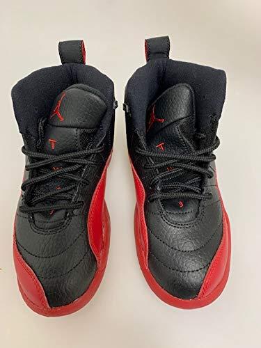 Nike Kinder Jordan 12 Retro BP 151186-002 Schwarz Rot, Schwarz - schwarz/rot - Größe: 28 EU (Rot Jordan Schuhe Retro)