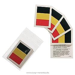 25 x Belgien Tattoo Fan Fahnen Set - Belgium temporary tattoo Flag (25)