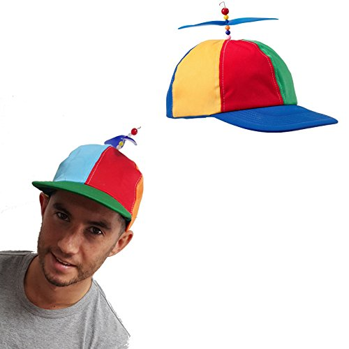 Classic Helicopter Helicap Novelty Unisex Fancy Dress Costume Gimmick Hat by My (Hut Propeller Mit)
