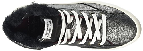 Pepe Jeans Damen Clinton Fur High-Top Grau (TRAIL 874)