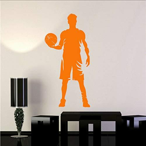 WandtattooBAsketball Spieler Silhouette Sport Kunst Junge Zimmer Aufkleber Art Decor Vinyl Kinderzimmer Kinderzimmer Wandaufkleber 41 * 85 cm