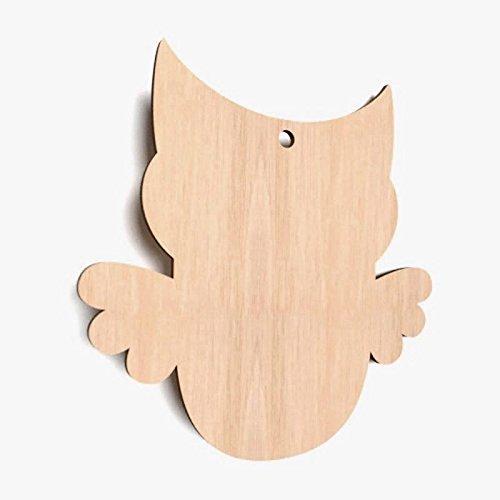 10x EuleTiere blank Form Holz Basteln Dekoration Malen Aufhängen X55