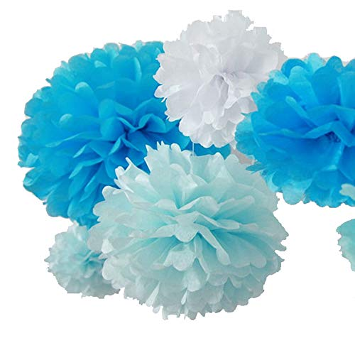 r Pompoms Pom Poms Blume Handmade Hochzeit Dekorationen Kugeln   Aqua Blau, 6 '(15cm) -1pc   ()