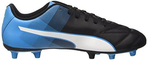 Puma Adreno II FG, Chaussures de football homme Noir - Schwarz (black-white-atomic blue 03)