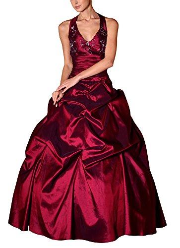 Romantic-Fashion Damen Ballkleid Abendkleid Brautkleid Lang Modell E451 A-Linie Perlen Pailletten DE...