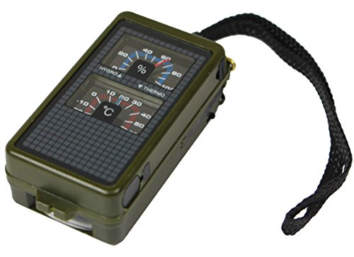 Tactical 10 Function Military Style Compass with Thermometer, Hygrometer and Spirit Level by Mil-Tec