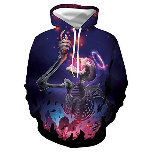 Paar Hoodies Halloween Sweatshirt ◆Elecenty◆ 3D Print Langarm-Sweatshirts Unisex Digital Hooded Top Lange Ärmel Hoodie Tops - Base Jumper Kostüm