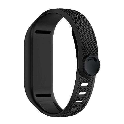 Garmin Vivofit 3 Armband - Silikon Fitnesstracker Sportarmband Straps Armbands Soft Silicone Sport Replacement Strap Armband für Garmin Vivofit 3 (Schwarz)