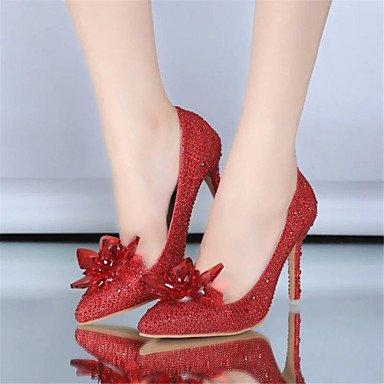 LYNXL nuovo prodotto multa sottolineato scarpe col tacco alto con cristalli paillettes scarpe cerimonia nuziale della sposa per i pattini delle donne White