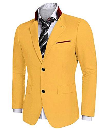 Leader of the Beauty -  Giacca da abito  - Uomo Yellow