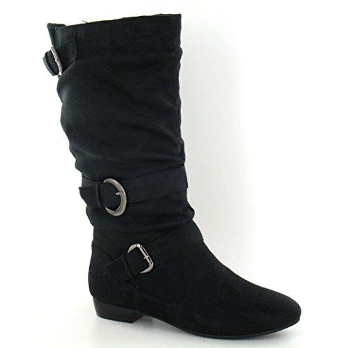 Spot On - Bottes - Femme PU noir