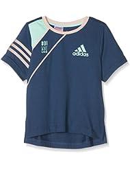 adidas Lg Co Tee - Camiseta de manga corta para niños de 5-6 años, color azul