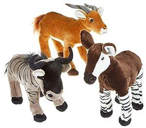Sunny Toys 34147Peluche antílope, Gnu, Okapi, Natural