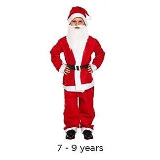 Traje de Papá Noel de Papá Noel para niños Edad 7-9