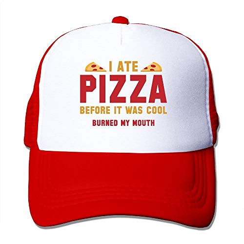 03e4f719a2ce26 CHKWYN I Ate Pizza Before It was Cool Trucker Hat Unisex Adult Baseball Mesh  Cap Black