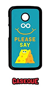 Caseque Please Say Cheese Back Shell Case Cover For Motorola Moto E