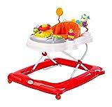 Caretero Toyz Stepp Lauflernhilfe Gehhilfe Laufhilfe mit Spielcenter Rot