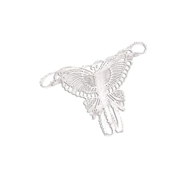 Bobury Chaussures Femmes G String Open Tongs T Retour Hollow Out Butterfly Broderies G Strings