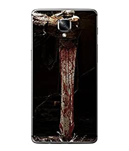 Fuson Designer Back Case Cover for OnePlus 3 :: OnePlus Three :: One Plus 3 (Graffiti Danger Talwar Daring Boys Man )