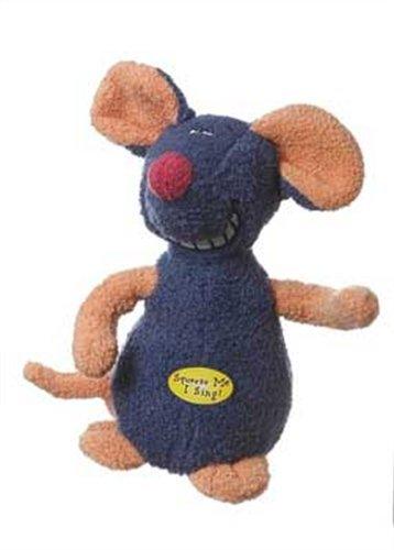 Von Multipet Deedle Dude-Singen Maus Plüsch Hundespielzeug, blau -