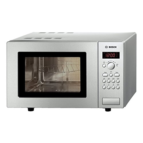 41n00fsH3OL. SS500  - Bosch Series 2 HMT75G451B Brushed Steel Freestanding Microwave with Grill with 17 litres Capacity, 5 Power Levels and LED Display