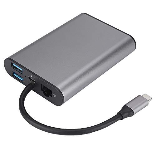 Preisvergleich Produktbild Asixx Universal Dockingstation,  8-in-1 USB 3.0-Typ c-Stecker oder Dual Monitor Dockingstation mit TF Deck VGA Kopfhörerbuchse HDMI für Windows,  Linux,  Mac OS,  Android
