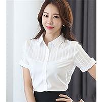 TAIDUJUEDINGYIQIE Camiseta de manga corta para mujer Vestido de camisa blanca, Blanco, 2XL