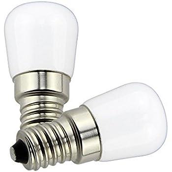 Poeland 1.5W LED Refrigerador y Congelador bombillas E14 Luz en la Base Pack de 2