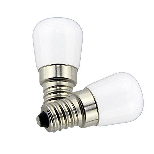 Zwei Licht-set (Poeland 1,5W LED Kühlschrank und Gefrierschrank Licht E14 Base Set von 2 Warmweiß)