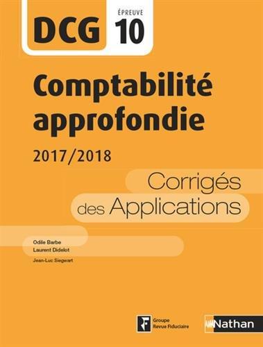 Comptabilit approfondie - DCG 10 - 2017/2018