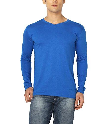 Joke Tees Solid Men's Perfect Vee Long T-Shirt(Royal Blue) (XXXX-Large)
