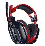ASTRO Gaming A40 TR-X - Auriculares con micrófono y cable para PC, también compatibles con Mac, PlayStation 4, Xbox One, rojo/azul