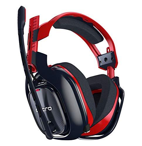 Astro gaming a40 cuffia per pc con microfono e cavo tr-x edition, compatibile anche con mac, playstation 4, xbox one, rosso/blu