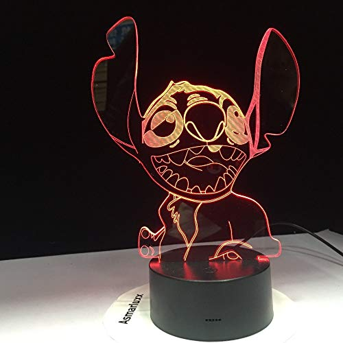 Kreuzstich 3D LED Licht Neue Nette Schlafzimmer Tisch Nachtlicht Acryl Panel USB Kabel 7 Farbwechsel Touch Base Licht Kinder Geschenk -
