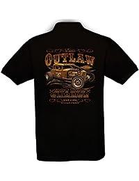 Ethno Designs - Hot Rod Garage - Hot Rod Polo Shirt Old School Rockabilly Retro Style pour Hommes