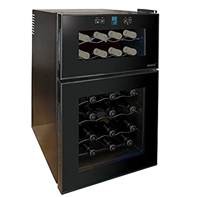 Husky Reflections Dual Zone Wine Cooler HUS-HN7, 24 Bottle Capacity from Husky