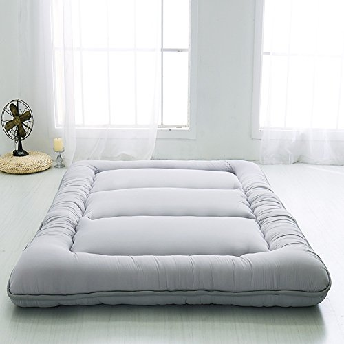 Love House Schlafen Tatami matratzenauflage, Folding Futon Unterbetten Tatami Weiche Dicke Japaner Studenten wohnheim matratze Pad-grau Voll