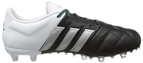 adidas Ace 15.2 Fg/Ag Leather, Chaussures de Football Compétition Homme Multicolore (Core Black/Matte Silver/Ftwr White)