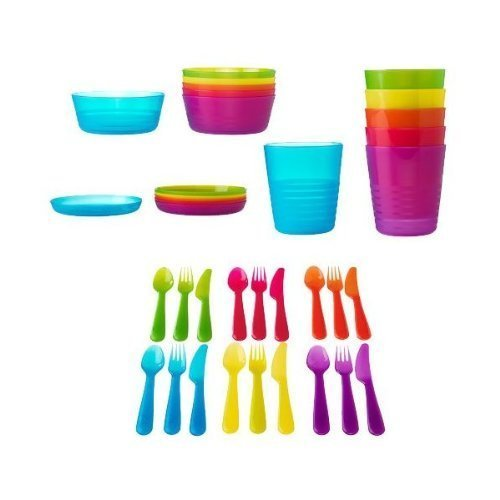 ikea-36-piece-dinnerware-set-assorted-colors