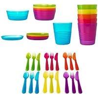 Ikéa Service de table en plastique 36 pièces sans BPA
