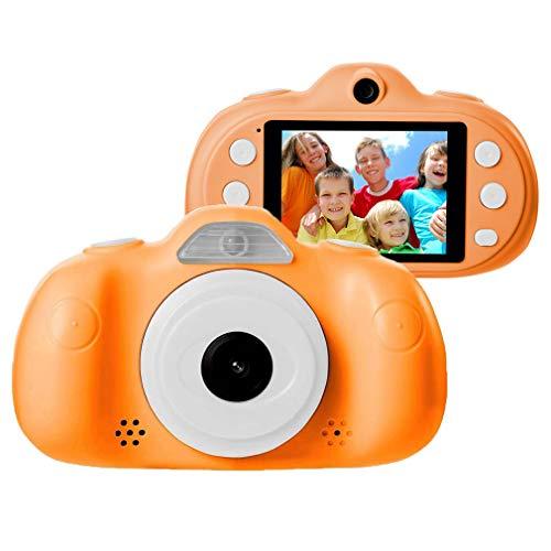 Kinderkamera, HD Kamera Spielzeug, Mini Cartoon Video Camcorder-2.4 Zoll, Geburtstag & Festival Geschenk Für Junge Mädchen,Orange