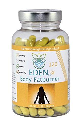 VITARAGNA Eden Body Fatburner Day 120 Kapseln, Fettverbrenner Diät Pillen bzw Abnehm-Pillen, Unterstützung zum natürlich abnehmen, auch bei Bauchfett