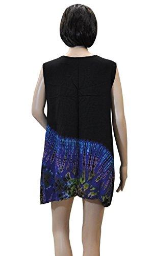 Sommerbekleidung weiter Schnitt Shirt Top Rock Bandeaukleid Haremshose Batikmode 42433 - Top