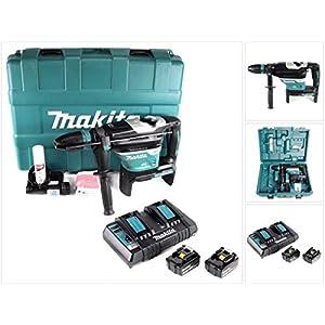 Makita DHR 400 PM2U 2 x 18 V / 36 V Li-Ion Akku Bohrhammer Kombihammer SDS-Max im Koffer + 2 x 4,0 Ah Akku…