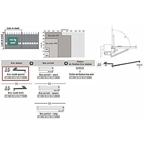 Somfy–Brazo Motor acodado izquierda para apertura hacia el exterior para Axovia 3S Somfy–9013745