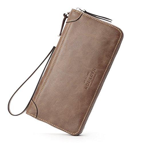 Die erste Schicht aus Leder Tasche retro Hand multifunktionale Handtasche, Aprikose gelb Khaki