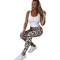 Leggings Yoga Mujer Pantalones Deportivos Largos Leggings, Yusealia Leggins Mujer Fitness Cintura Alta Estampado de Leopardo,Moda Empalmada Pantalones para Running Deportes De Flaco Fitness Gimnasio