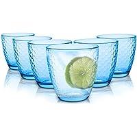 Tivoli Sydney Vasos de agua/280 ML/Conjunto de 6/Gafas de Alta Calidad/Lavavajillas/Vasos de Cristal