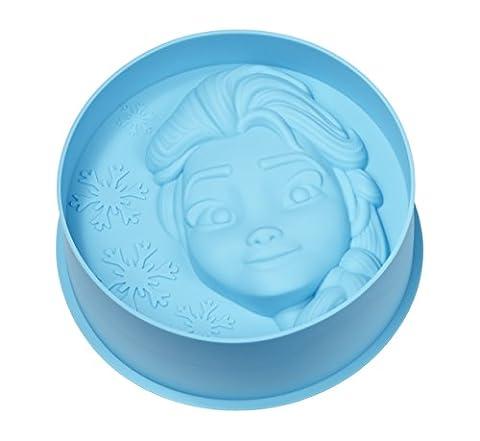 Gedalabels 20572 Disney La reine des neiges - Elsa Moule à gâteau Silicone Bleu 20 x 20 x 4.5 cm