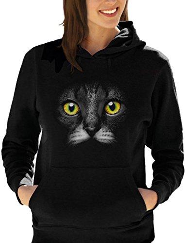 idéal pour les fans de Chat - Fashion Sweatshirt Capuche Femme Noir